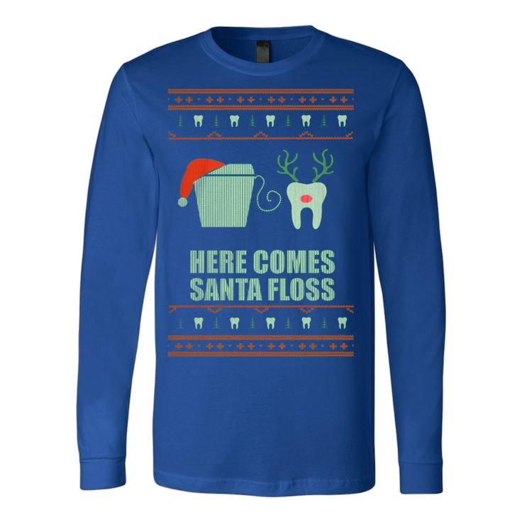 Ugly Christmas Sweatshirt Dentist Dental