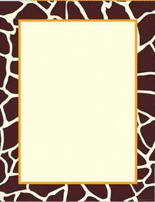 giraffe theme paper 80 sheets 695 from great papers large quantity discount
