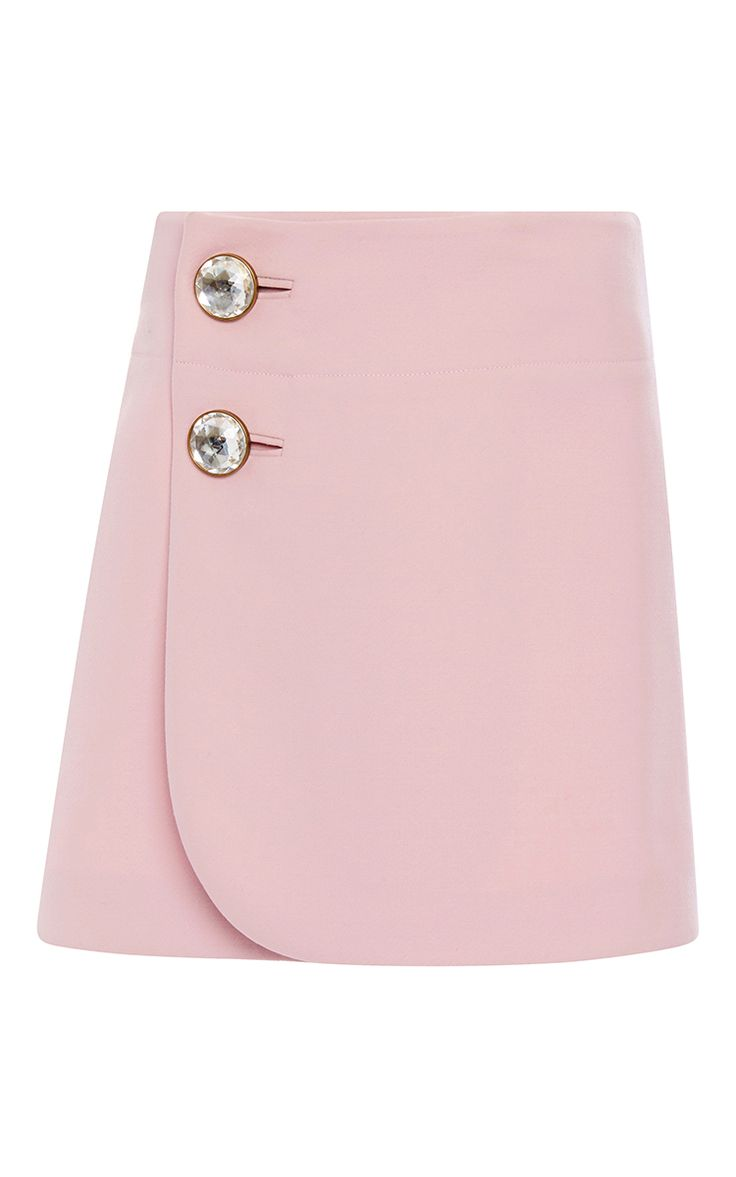 Pink Double Worsted Wool Mini Skirt  by MARNI Now Available on Moda Operandi