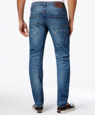 G-Star Raw Men's Slim-Fit Jeans - Med Vintage Aged Distroyed 33x32