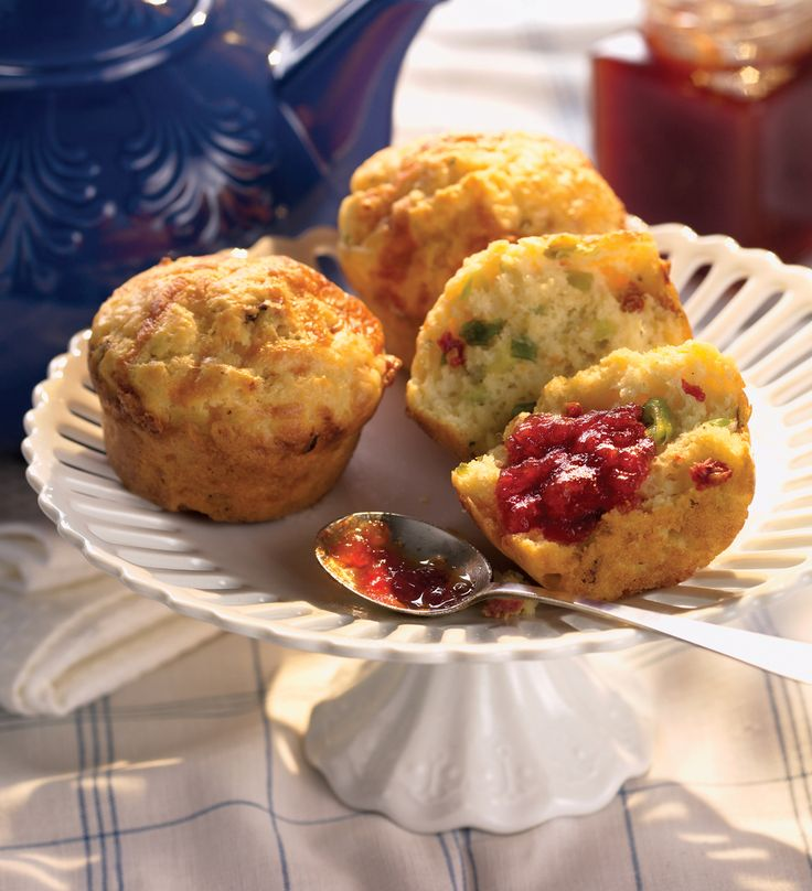 What I like about this recipe is that its a dairy carb recipe that could be featured on a Jewish-style breakfast menu. Perhaps even in place of or alongside bagels for a slightly lighter, softer choice. I like to cut the muffins in half and place them in a basket to serve with egg dishes.