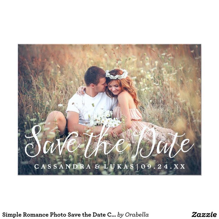 standard size wedding invitation%0A Simple Romance Photo Save the Date Card