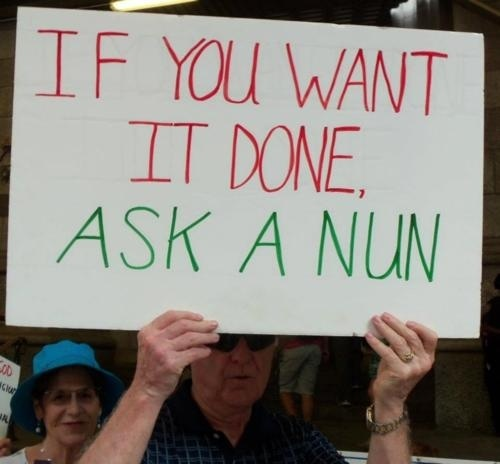 In solidarity with American nuns