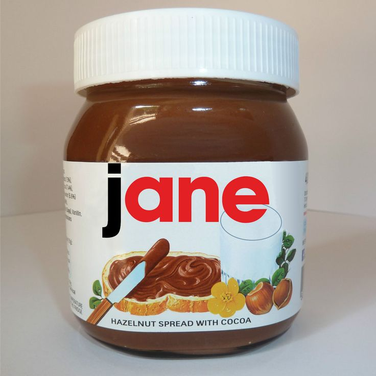 Personalised Name Nutella Label Birthday Valentines Gift Ideal Christmas Present