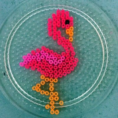 Flamingo perler beads