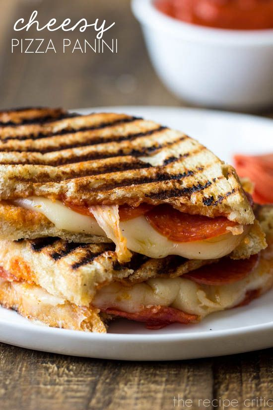 Cheesy Pizza Panini... if you don't have a panini press then make them as a grilled cheese.. maybe add garlic butter to the outside, or parm, or even itallian seasoning! kids will devour these! sneak in some raw spinach if you're feeling guilty about veggies lol