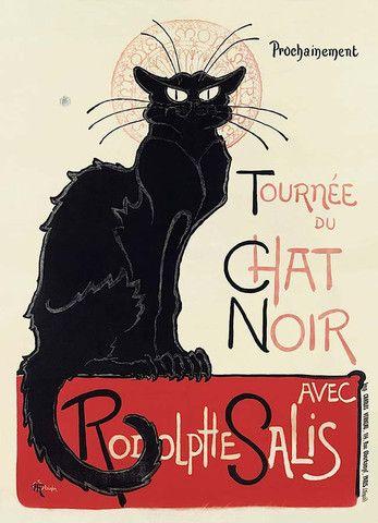 Chat Noir Vintage Art Print Poster NZ | Pop Motif