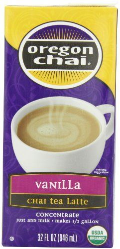 Oregon Chai Vanilla Chai Tea Latte Concentrate, 32-Ounce Boxes (Pack of 6) - http://teacoffeestore.com/oregon-chai-vanilla-chai-tea-latte-concentrate-32-ounce-boxes-pack-of-6/