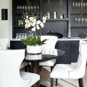 Nailhead Trim Dining Chairs, Contemporary, dining room, Kelly Hoppen Interiors