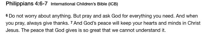 ** Print for LCB's room** Don't worry my pretty little girl, everything will be ok! Philippians 4:6-7