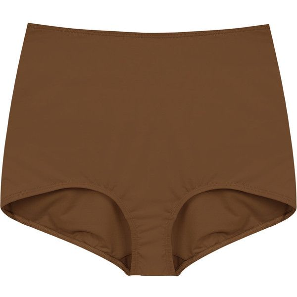 À La Garçonne high waisted briefs ($112) ❤ liked on Polyvore featuring intimates, panties, brown, high-waisted lingerie and underwear lingerie