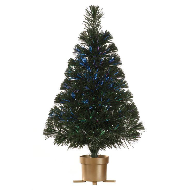 60cm 2ft Classic Green Fibre Optic Prelit Artificial Christmas Tree | Christmas Trees | Christmas Decorations & Trees - Zeppy.io