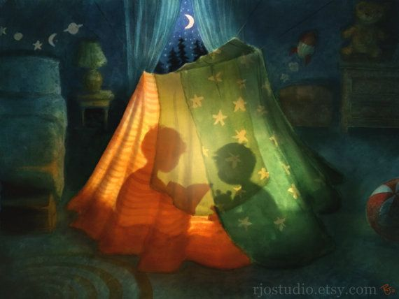 Fort Night  Oh, blanket fort... I will never outgrow you.  This listing is for a…