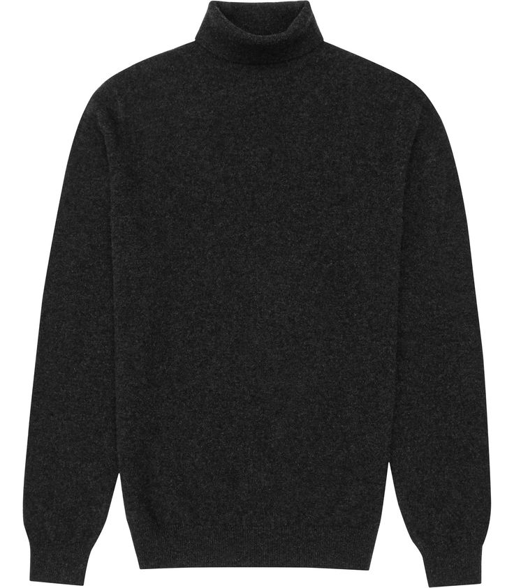 Reiss Charcoal Cashmere Roll Neck Jumper