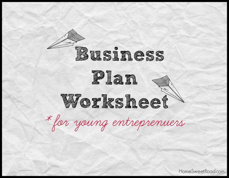 business plan worksheet kids | Economic lesson | Pinterest ...