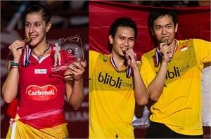2015 BWF World Championships: Carolina Dominates for 2nd Year; Mohammad and Hendra Win 2nd Gold