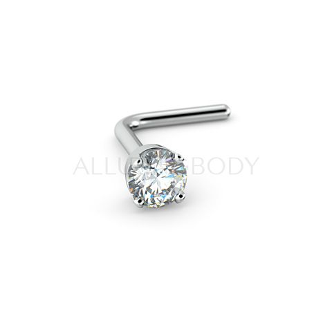 2mm Stunning Diamond Nose Stud