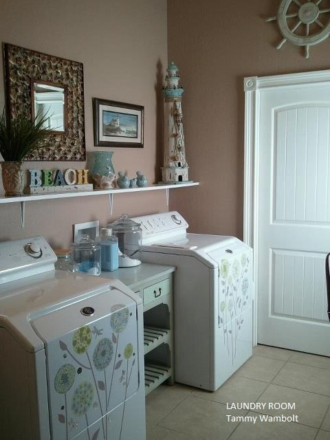 My Beach Theme Laundry Room Home Decorating Ideas