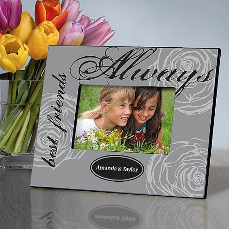 Forever Friends in 3 Colors | Personalized Picture Frame for 4x6 Photo