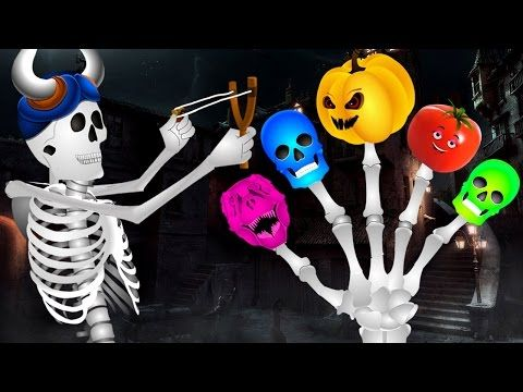 Skeleton And Vegetables Finger Family | Kids Preschool Learning Songs | Funny Colors Skeleton Rhymes - YouTube