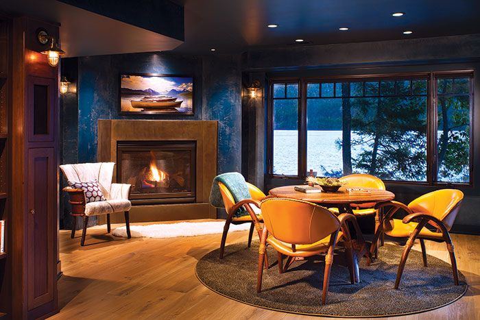A Private Home Perched on Whitefish Lake