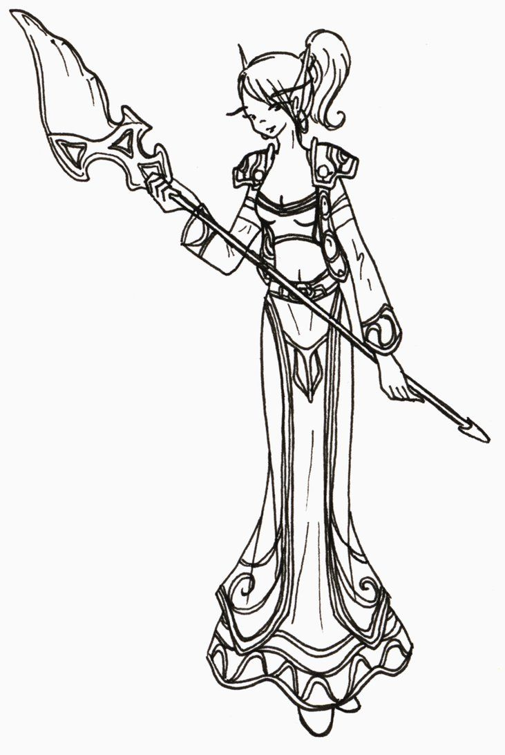 worldof warcraft coloring pages - photo#15