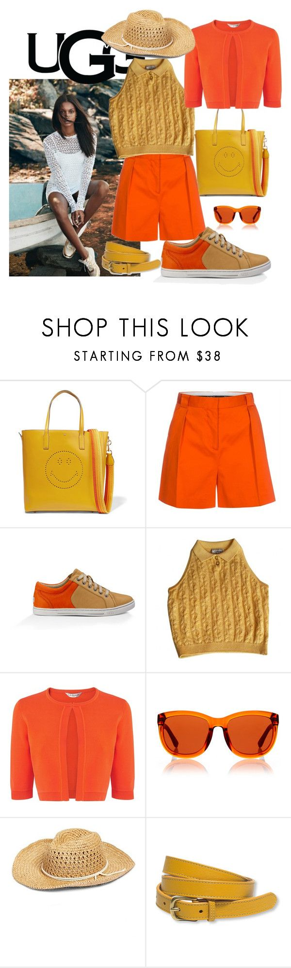 """""""Play With Prints In UGG: Contest Entry"""" by manueladimauro ❤ liked on Polyvore featuring UGG Australia, Anya Hindmarch, Paul Smith, Versace, L.K.Bennett, The Row, Hinge, L.L.Bean and thisisugg"""