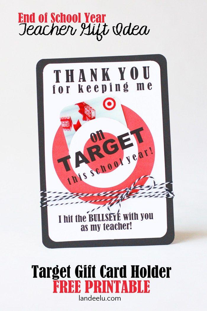 Teacher Appreciation Gift Idea... every teacher LOVES Target! Cute way to give a gift card.