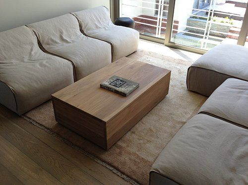 Solid Oak Boxed Coffee Table