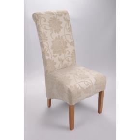 Mia Floral Fabric Dining Chair Cream  www.easyfurn.co.uk