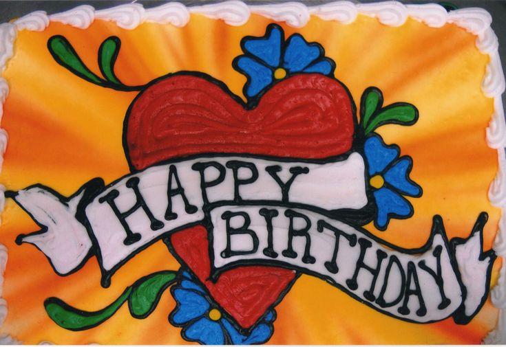 Tattoo Style Birthday Cake My Cakes Pinterest