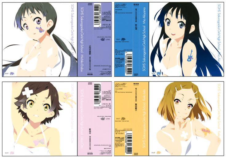 K-On!   Kakifly   Kyoto Animation / K-On! (Mio Akiyama, Michiko Endou, Ushio Ota, Keiko Iida)