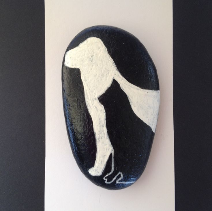Hand painted River Stone, Cat and Dog, Black and White by MaineMtnArtistry on Etsy https://www.etsy.com/listing/484456343/hand-painted-river-stone-cat-and-dog