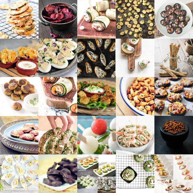 De 25 lekkerste party snacks. Deze lekkere hapjes zijn voedzaam, bijna allemaal koolhydraatarm en lekker. Verras je feestgangers met verantwoord lekkers!