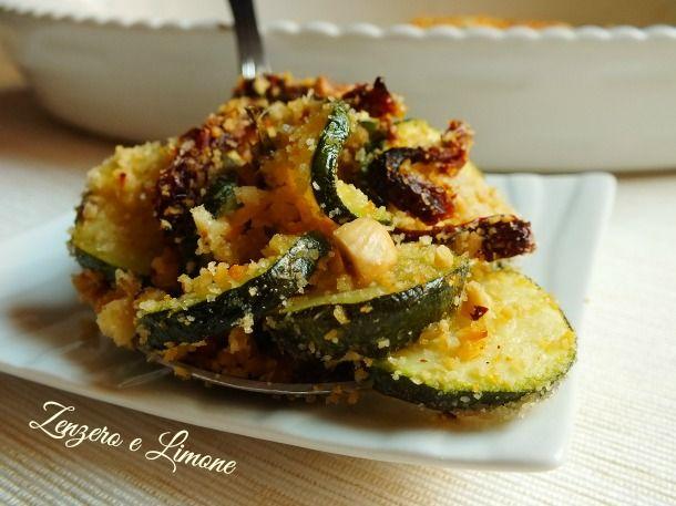 crumble di zucchine - dettaglio