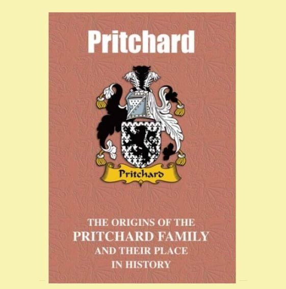 Pritchard Coat Of Arms History Welsh Family Name Origins Mini Book
