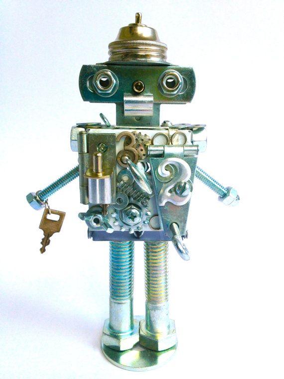 SALE!!! Tin Man-Bot--Custom order your own!