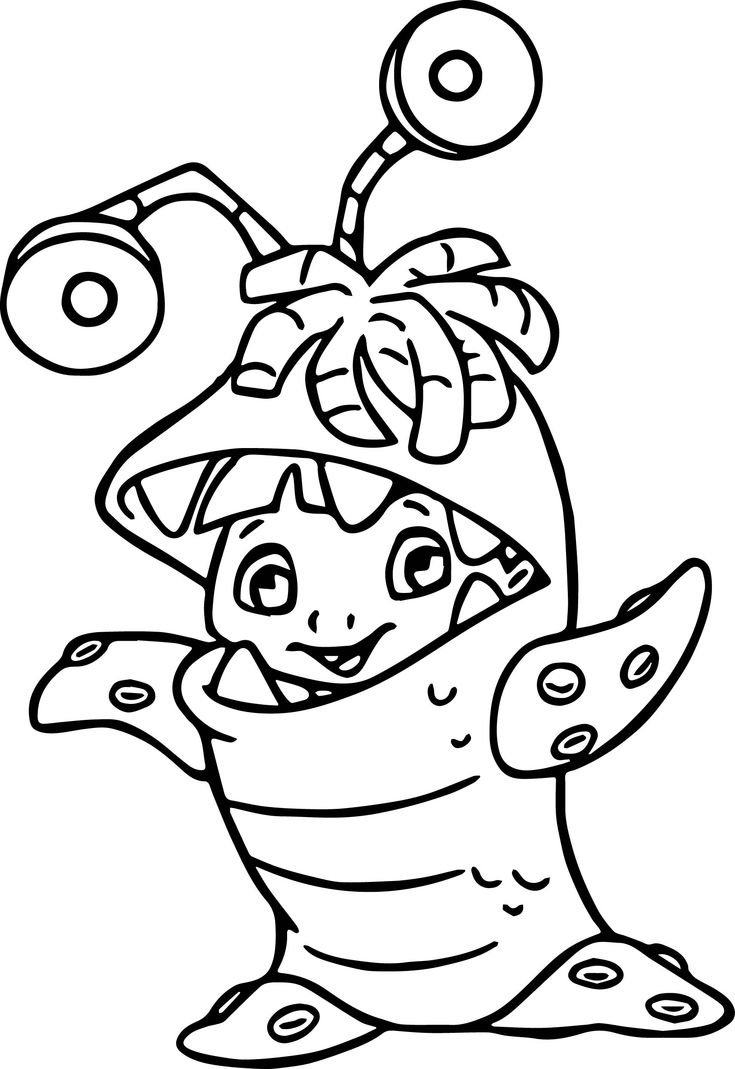 Printable coloring pages monsters university - Disney Monsters Inc Coloring Pages