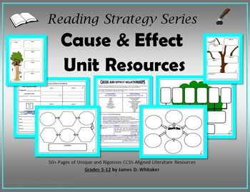Cause and Effect Relationships Unit Resources Common Core -- 50+ Pages!