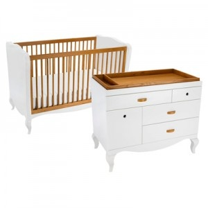 Super cute crib + dresser set