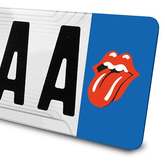 Sticker The Rolling Stones pour plaques d'immatriculation
