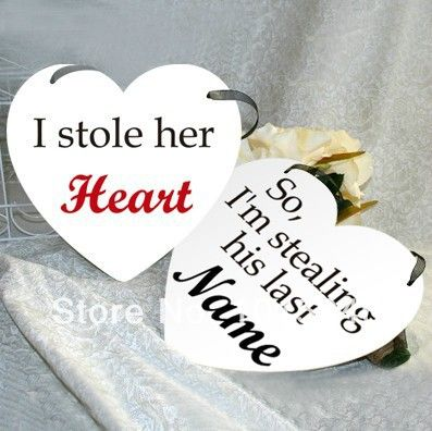 Бесплатная Доставка 1 Компл. Я Украл Ее сердце Его Имя С я Украл ее Сердце Свадьба Бантинг Баннер Декорации Для Вечеринок Фото Опора