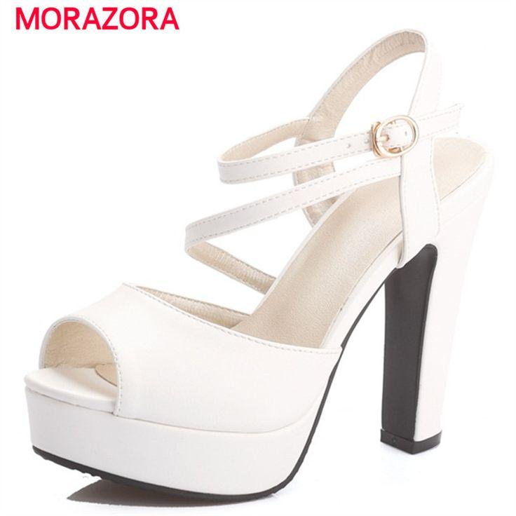 Damen Fashion Peep-toe High Heel Sandalen Party Dress Shoes Mit Bowknot (34 EU, White) TAOFFEN