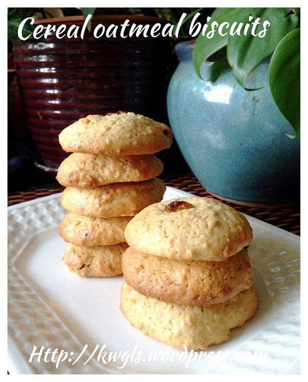Baby Cereal Oatmeal Cranberry Biscuits (麦片饼干) #guaishushu #kenneth_goh #Oatmeal_biscuits #麦片饼干
