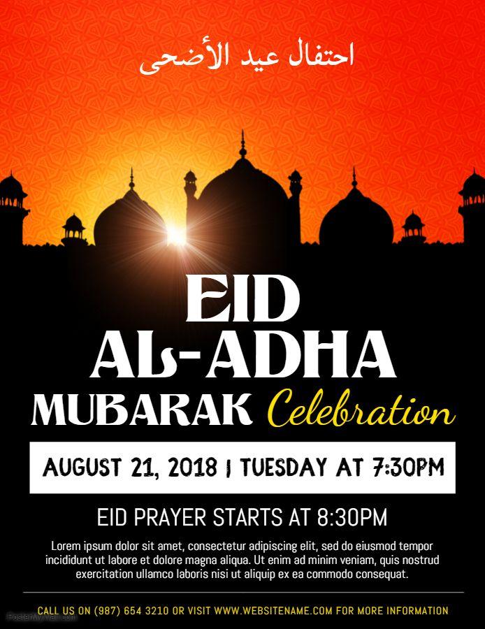 Arti Eid Mubarak : mubarak, Mubarak, Event, Invitation, Flyer, Template, Template,, Flyer,, Templates