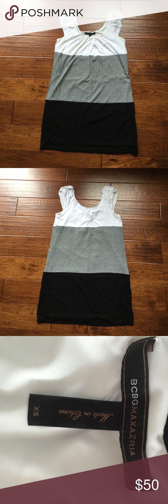 BCBG color block dress Great condition!  Super soft and flattering! BCBGMaxAzria Dresses