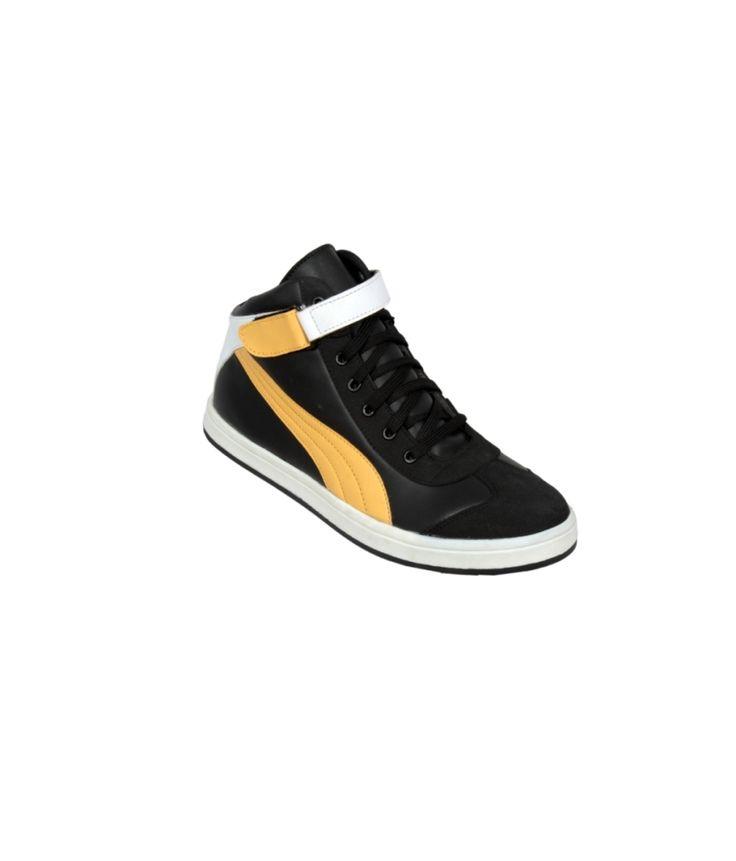 Ztoez Black Casual Shoes For Men