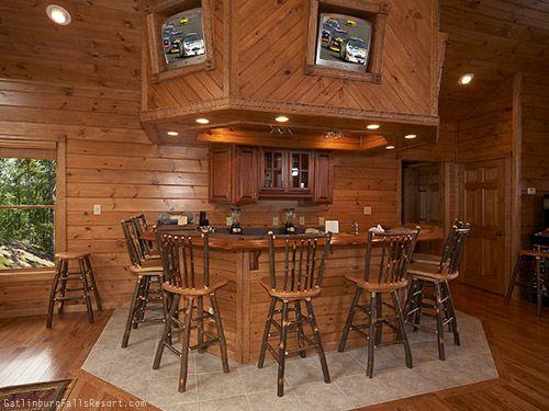 "Large Gatlinburg Cabin ""Mountaintop Mansion"" wet bar area"