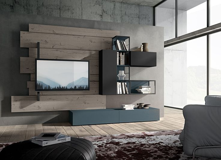 Oltre 25 fantastiche idee su mobili porta tv su pinterest - Mobile tv industrial ...
