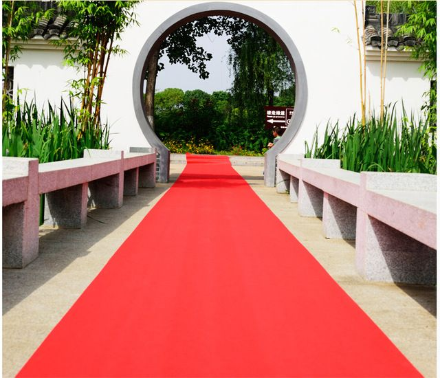 レッド結婚式カーペットランナー1メートル幅による20メートル長さ結婚式パーティーの装飾宴会通路ランナー